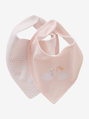Vertbaudet Collection-Nursery-Pack of 2 Bandana-Style Bibs