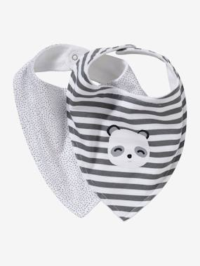 Nursery-Mealtime-Bibs-Pack of 2 Bandana-Style Bibs
