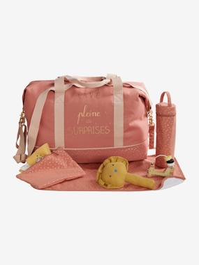 Summer collection-Nursery-Weekend Changing Bag with Print: La Vie est Pleine de Surprises