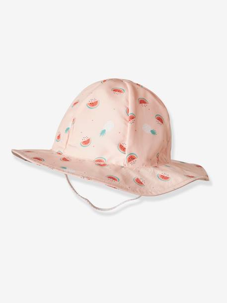 Bucket Hat with Watermelon Print for Babies PINK LIGHT ALL OVER PRINTED - vertbaudet enfant
