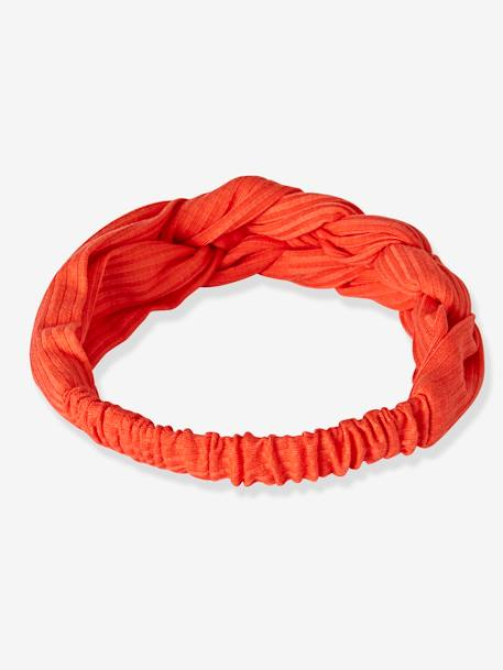 Headband tresse fille MARINE+ORANGE+SAPIN - vertbaudet enfant
