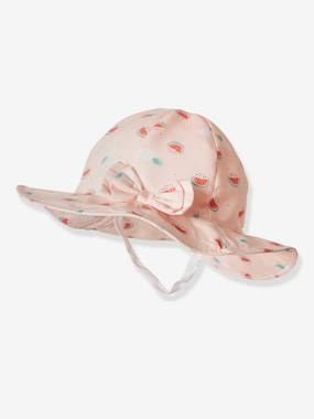 Baby-Hats & Accessories-Bucket Hat with Watermelon Print for Babies