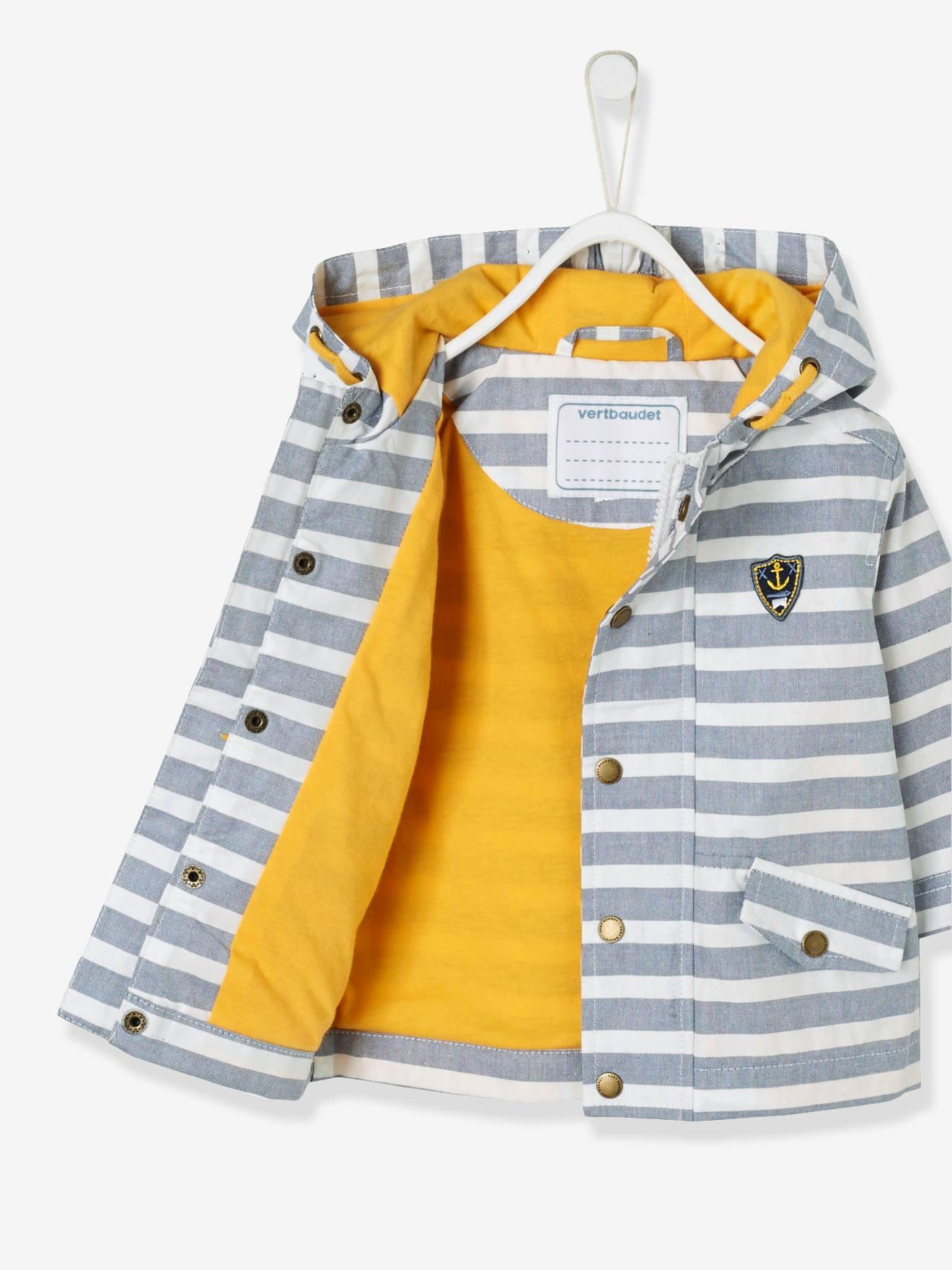 c3b42956c Baby Boys' Coated Raincoat with Hood - blue dark solid, Baby
