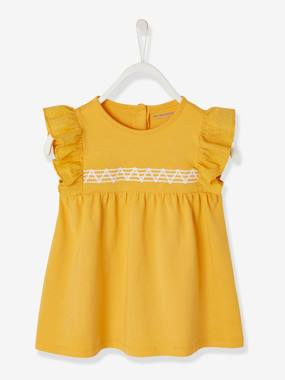 Baby-Dresses & Skirts-Dress with Embroidery on the Front for Baby Girls