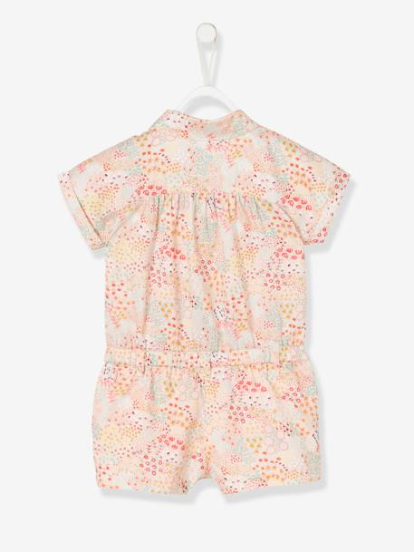 Jumpsuit with Print for Baby Girls PINK LIGHT ALL OVER PRINTED - vertbaudet enfant