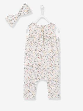 Baby-2-Piece Set with Flowers for Baby Girls