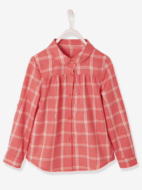 a7992ed4e6f Iridescent Check Shirt for Girls - pink medium checks, Girls