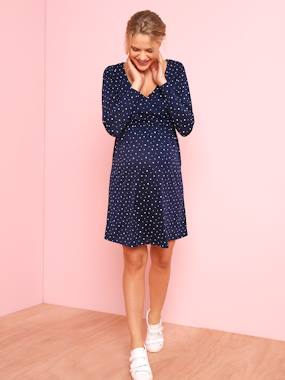 Vertbaudet Sale-Maternity-Adaptable Maternity & Nursing Wrapover Dress