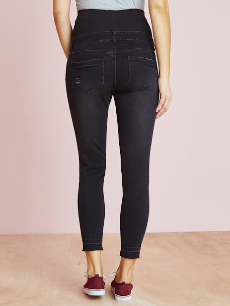 Maternity Washed Skinny Jeans, Ankle Length BLACK DARK SOLID+BLUE DARK WASCHED+GREY MEDIUM WASCHED - vertbaudet enfant
