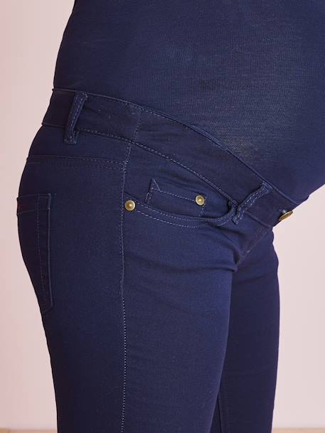 Maternity Slim Jeans in Stretch Fabric, Inside Leg 31' BLACK DARK SOLID+BLUE DARK SOLID+WHITE LIGHT SOLID - vertbaudet enfant