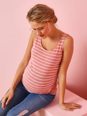 Vertbaudet Collection-Maternity-Maternity & Breastfeeding Top with Bows on the Back