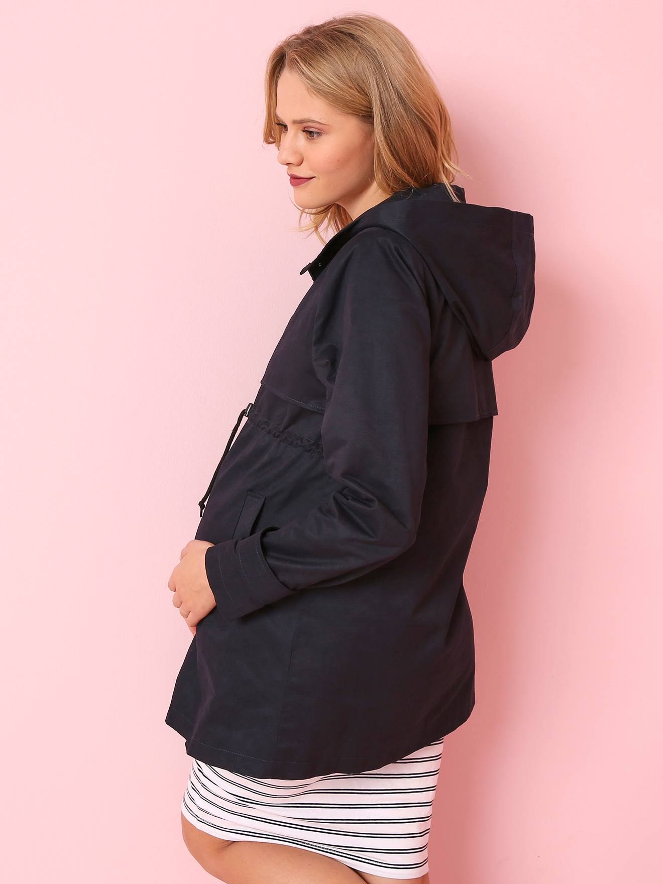 18ff56a57246b Progressive 3-in-1 Maternity & Post-Maternity Parka - blue dark solid,  Maternity