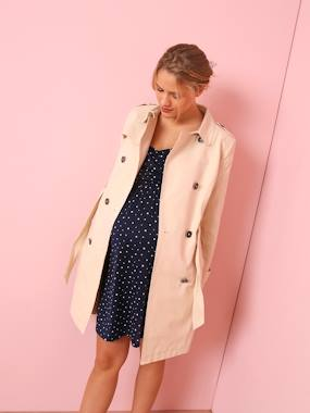 Mid season sale-Maternity-Coats & Jackets-Maternity Trench Coat in Fabric