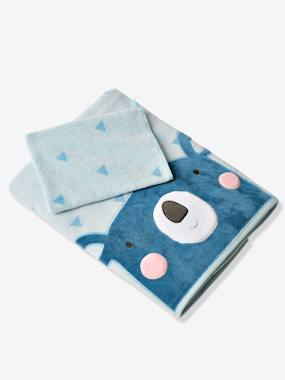 Bedding & Decor-Towel + Bath Mitt Gift Box, Teddy Bear
