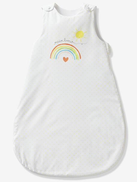 Summer Baby Sleep Bag, Rainbow Theme WHITE LIGHT SOLID WITH DESIGN - vertbaudet enfant