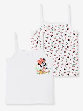 Minnie and Mickey-Girls-Pack of 2 Vest Tops, Minnie® Prints