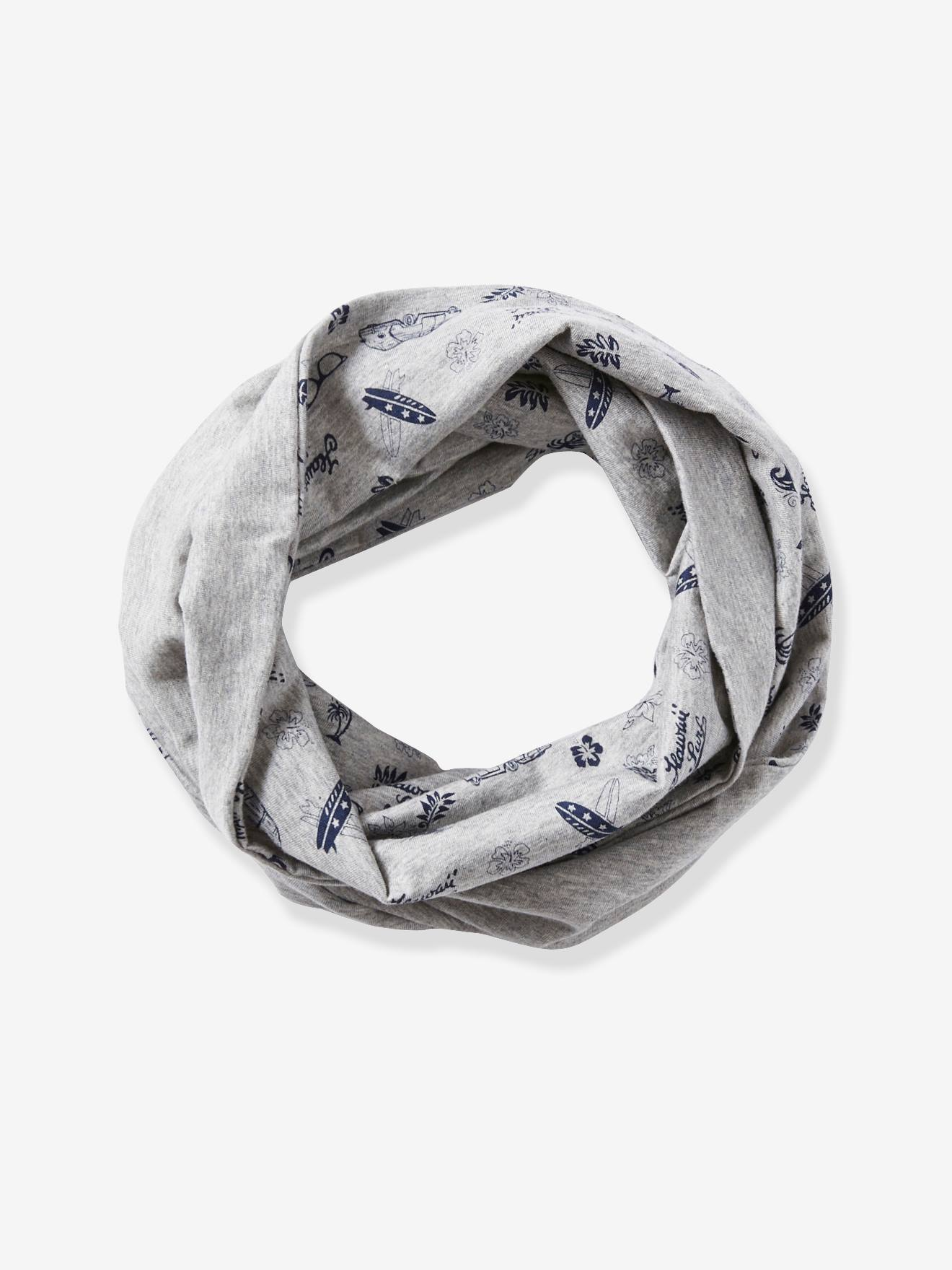 8dd5991cbc1da Infinity Scarf with Surf Motif, for Boys - grey light mixed color, Boys