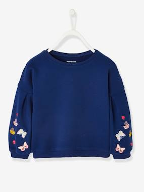 Mid season sale-Girls-Cardigans, Jumpers & Sweatshirts-Sweatshirt with Butterflies on the Sleeves, for Girls