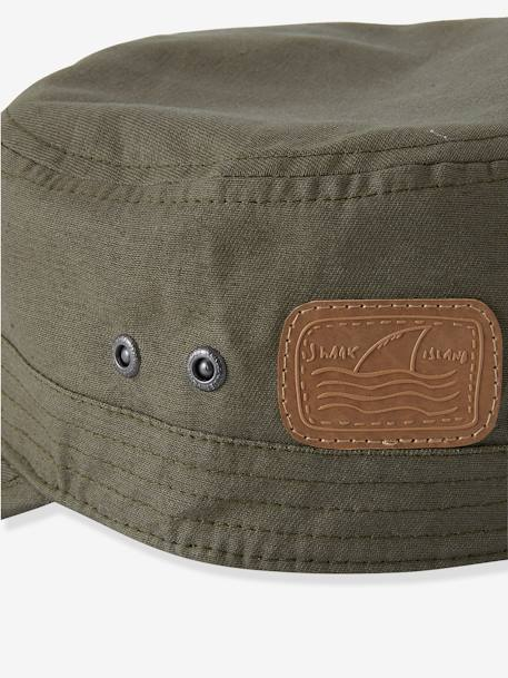 Cap for Boys GREEN MEDIUM SOLID WITH DESIG - vertbaudet enfant