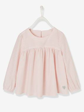 Girls-Blouses, Shirts & Tunics-Blouse with Iridescent Stripes for Girls