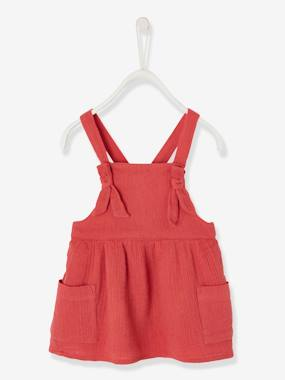 Vertbaudet Collection-Baby-Dress with Straps for Baby Girls