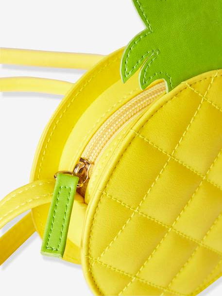 Pineapple Circle Body Bag for Girls YELLOW DARK SOLID - vertbaudet enfant