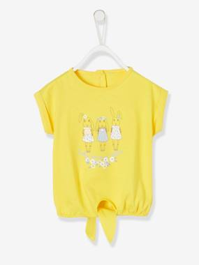 Festive favourite-Baby-T-Shirt with 3 Bunnies & Bow on the Front, for Baby Girls