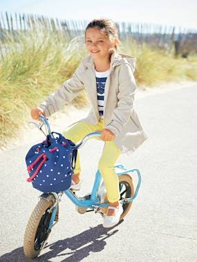 T-shirts-Girls' Water-Repellent Trenchcoat with Detachable Hood