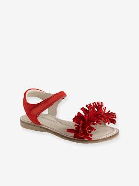 Sandals-Touch-Fastening Leather Sandals for Girls