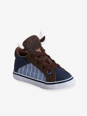 Shoes-Baby Footwear-Baby Boy Walking-Trainers with Buffalo-Shaped Tongue for Boys