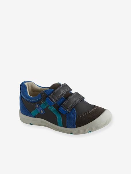 Boys' Leather Shoes, Designed For Autonomy Navy - vertbaudet enfant