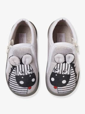 Shoes-Baby Footwear-Slippers & Booties-Zipped Slippers for Baby Boys