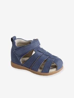 Mid season sale-Shoes-Leather Sandals for Baby Boys, Designed for First Steps