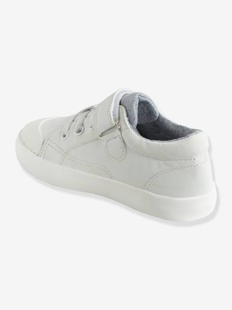 Boys' Trainers, Autonomy Collection BLUE MEDIUM SOLID+GREY MEDIUM SOLID+WHITE LIGHT ALL OVER PRINTED+WHITE LIGHT SOLID WITH DESIGN - vertbaudet enfant