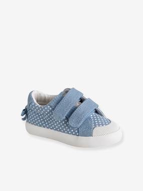Shoes-Baby Footwear-Touch-Fastening Trainers in Canvas for Baby Girls