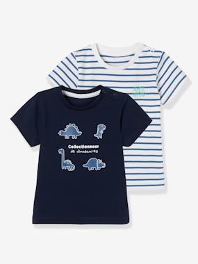 Baby-T-shirts & Roll Neck T-Shirts-Baby Boys' Pack of 2 T-Shirts with Wording