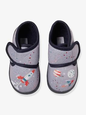 Shoes-Baby Footwear-Slippers & Booties-Touch-Fastening Slippers for Baby Boys