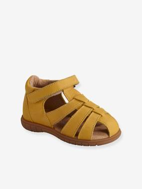 Vertbaudet Sale-Shoes-Leather Sandals for Baby Boys