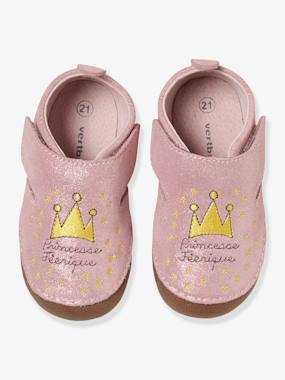 Vertbaudet Collection-Shoes-Soft Leather Shoes for Baby Girls