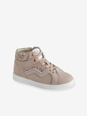 Baskets-Leather Trainers for Girls, Designed for Autonomy