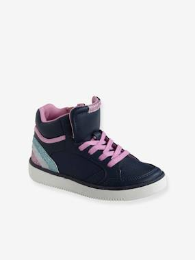 Baskets-Trainers with Zip & Laces for Girls