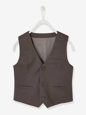Boys-Coats & Jackets-Occasion Wear Cotton/Linen Waistcoat for Boys