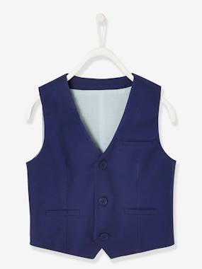 Boys-Coats & Jackets-Jackets-Occasion Wear Cotton/Linen Waistcoat for Boys