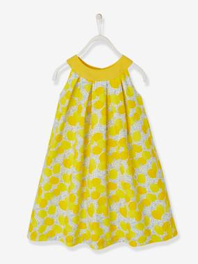 Festive favourite-Girls' Dress with Round Neckline and Cutaway Shoulders