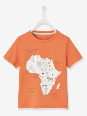 Vertbaudet Collection-Boys-African Print Short-Sleeved T-Shirt for Boys