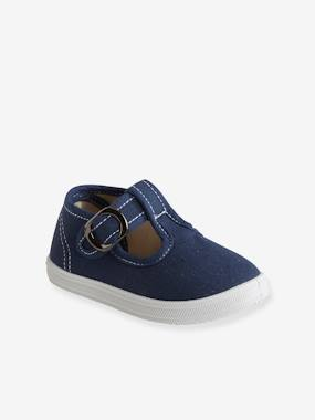 Shoes-Baby Footwear-T-Strap Sandals for Boys, Designed for First Steps