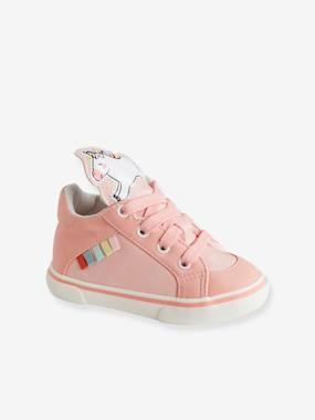 Shoes-Baby Footwear-Trainers with Unicorn-Shaped Tongue for Baby Girls