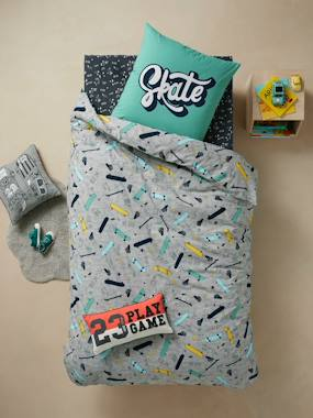 Vertbaudet Collection-Bedding-Children's Duvet Cover + Pillowcase Set, CRAZY SKATE