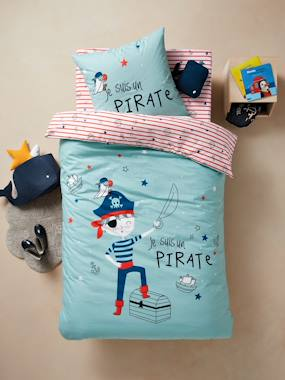 Bedding-Child's Bedding-Duvet Cover + Pillowcase Set for Children, Pirate Theme