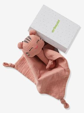 Toys-Cuddly Toys, Comforters & Soft Toys-Gift Box with Baby Comforter + Rattle, in Fabric